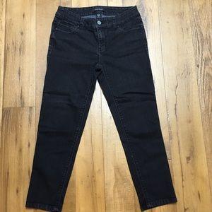 WHBM Dark Gray Skinny Cropped Jeans